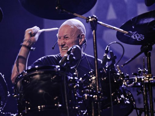 Chris Slade : batterie – Photo Régis Lelièvre – 2017